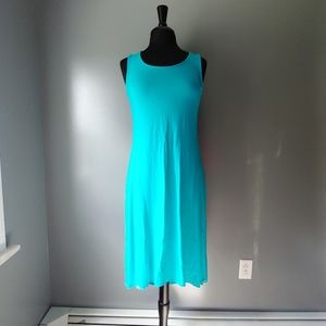 *NWT* Chico's Solid Tanya Tank Dress in Maui Blue